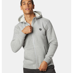 Mountain Hardwear Hardwear Logo Full Zip Hoody Men heather grey ice